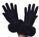Hartfield Fur Trim Gloves